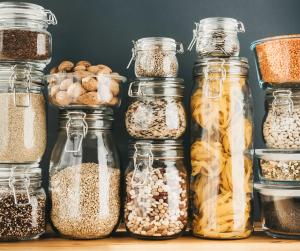 Alimentos em embalagem de vidro